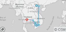 Fascinating Vietnam, Cambodia & the Mekong River with Hanoi, Ha Long Bay & Bangkok (Northbound) 2021 - 12 destinations