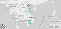 Vietnam Express Northbound - 6 destinations