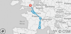 Grand France with 3 Nights in London (Northbound) 2021 - 17 destinations