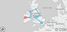 British Isles UK Group Tour by Rail (18-35) - 11 destinations