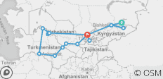 Central Asia 5 Stans with Hell\'s Gate Derweze - 17 destinations