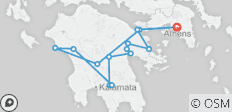 The Peloponnese wine roads (3 days - small group/escorted/cultural/culinary - 14 destinations