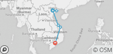 Vietnam Express Southbound - 6 destinations