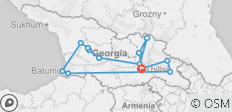 10 days Through the Georgia - 11 destinations