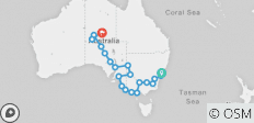 Sydney to Alice Springs Outback Tour Australia - 22 destinations