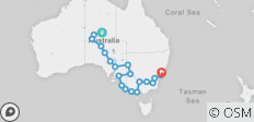 Alice Springs to Sydney Outback Tour Australia - 22 destinations