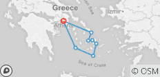 16 Day Greek Islands Hopping: Milos, Santorini, Koufonisia, Naxos, Paros, Antiparos, Mykonos, Delos & Athens - 8 destinations