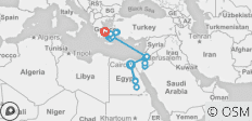 Egypt & Jordan with Greece by Land and Sea - 23 destinations
