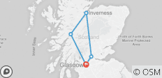 3 day / 2 night Scottish highland experience from Glasgow - 5 destinations