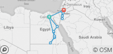 Egypt & Jordan - by Nile Cruise Ship - 15 Days - 19 destinations