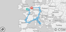 European Quest (End Amsterdam, 25 Days) - 30 destinations
