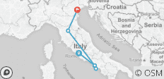 Rome, Naples & Amalfi Coast, Florence, Venice: no frills by high speed train - 6 destinations