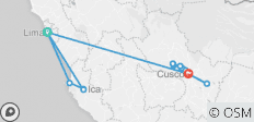 07 Day Inca Adventure - Lima, Ica, Machu Picchu & Cusco w/int flights - 17 destinations