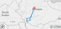South Ethiopia Tribe  8 Days 7 Nights - 8 destinations