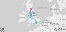 British Adventure - London to Edinburgh - 11 destinations