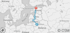 Tour of the Baltic States for private groups - 8 destinations