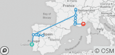 Lisbon to Nice with Three Rivers Discovery 2021 (Start Lisbon, End Nice, 21 Days) - 17 destinations