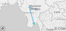 6 day Myanmar Express - 5 destinations
