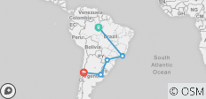 South American Getaway With Brazil Amazon And Santiago - 5 destinations
