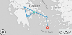 Greece Exclusive: 12 Days in Athens-Delphi-Peloponnese-Mykonos-Santorini (up to 6 people) - 6 destinations