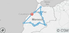 Discovery tour from Casablanca ( Highlights of Morocco ) - 21 destinations