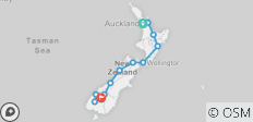 17 Day Classic NZ Small Group Tour - Saturday 25 April 2020 (Guaranteed Departure) - 12 destinations
