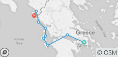 GYR- Athens to Curfo 7N amazing- cruise - 9 destinations