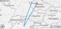 VIP Private Europe Tour: Prague - Austria - Italy - 5 destinations