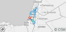 Holyland Highlights Trip - 8 Days - Spanish Tour Guide - 21 destinations