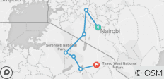 10-Day From Kenya to Tanzania (Mid-Range ) - 7 destinations