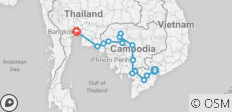Saigon to Bangkok by Bicycle - 15 destinations