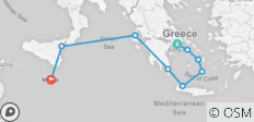 Mediterranean Odyssey: Greece to Malta - 9 destinations
