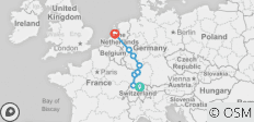 Rhine Highlights 2021 (Start Zurich, End Amsterdam) - 10 destinations
