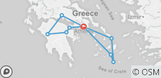 Spotlight On Greece Plus 11 Day Greek Island Hopping (20 destinations) - 10 destinations