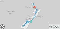 The Big Tiki (19 Days) (from Christchurch to Auckland) - 12 destinations