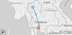 Cycling Chiang Mai to Bangkok - 4 destinations