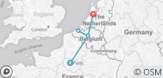Paris - Brussels - Amsterdam | 5-day Private Tour - 5 destinations