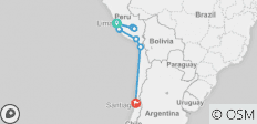 Peru and Chile - Machu Picchu and Incan Highlights (Itinerary 2) - 12 destinations