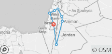 Northern Israel and Jordan 5 Day Loop - 9 destinations
