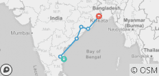 Chennai to Kolkata Overland - 6 destinations
