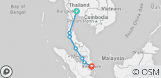 Bangkok to Singapore - 8 destinations