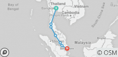 Bangkok to Singapore - 7 destinations