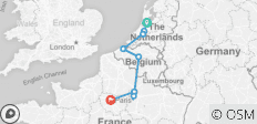 Netherlands, Belgium & France (Amsterdam to Paris) - 9 destinations
