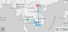 The Heart of Cambodia & Vietnam with Bangkok (Southbound) 2021 - 15 destinations