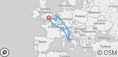 European Whirl (11 destinations) - 11 destinations