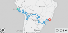 South American Journey Ways (from Lima) - 26 destinations