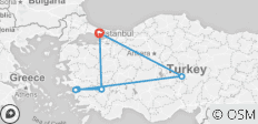4 Days - Cappadocia, Ephesus and Pamukkale Tour from/to Istanbul - 6 destinations