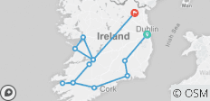 Shades of Ireland (Dublin to Kingscourt) (Standard) - 13 destinations