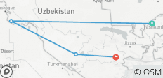 Uzbekistan: See & Experience it ALL in 8 Days, 1st Class Traveling - 4 destinations