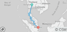 Bangkok To Singapore Adventure - 10 destinations